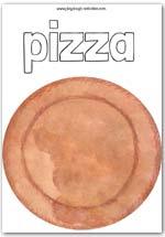 Pizza box colouring picture
