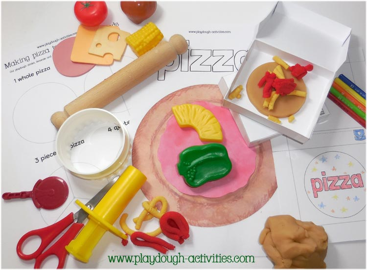 National Pizza Day playdough activities
