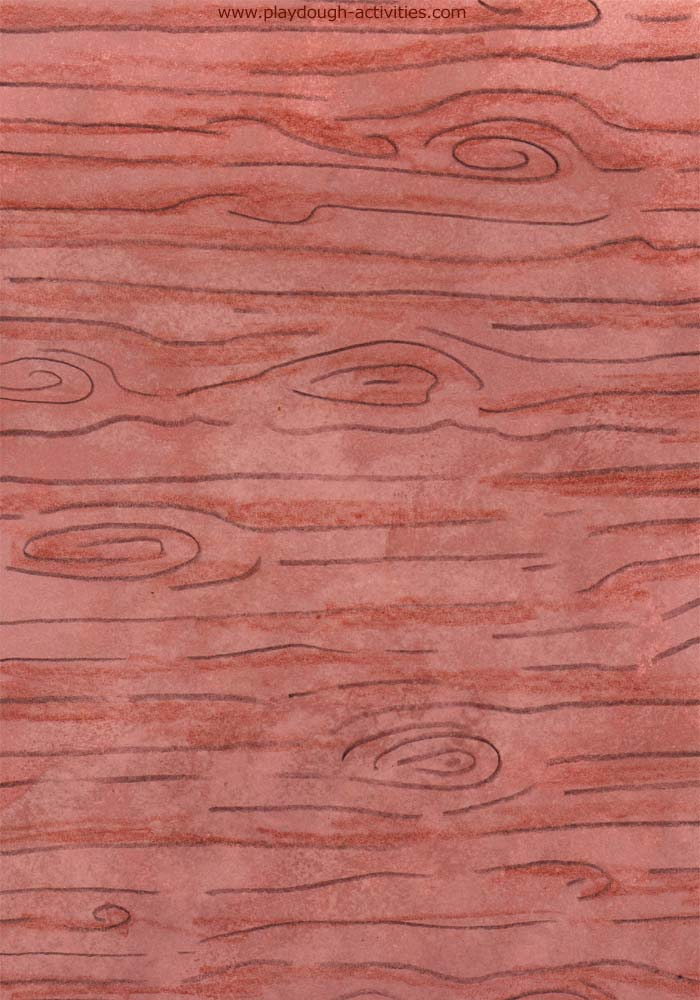 Wood grain wrapper for Play-Doh tubs