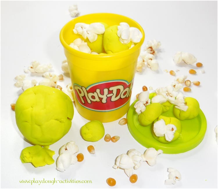 Popcorn Play-Doh activities