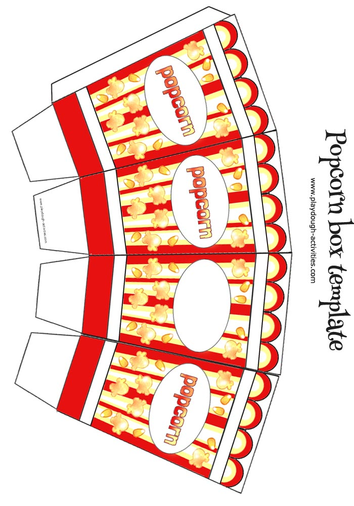image regarding Printable Popcorn Template named Popcorn box template - tiny coloration template