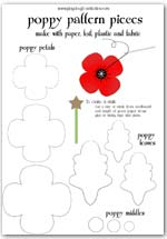 Click to print a set of poppy outline patterns