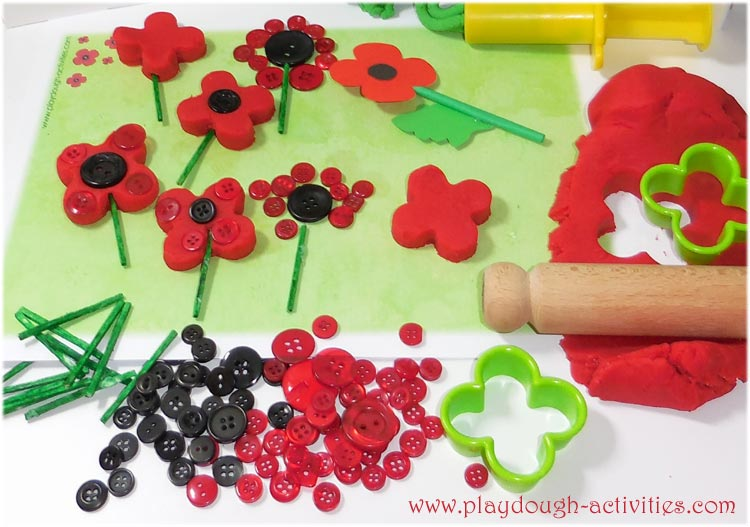 Poppy playdough activity