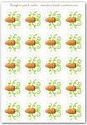 Pumpkin tendril stalks - playdough printable