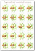 Numbered pumpkin tendril stalks - playdough printable