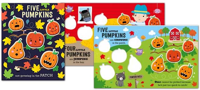 Pumpkin counting story rhyme book for young children