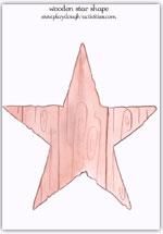 Wooden shaped star - playdough mat