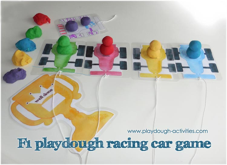 Playdough racing car games