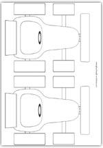 racing car outline templates x2