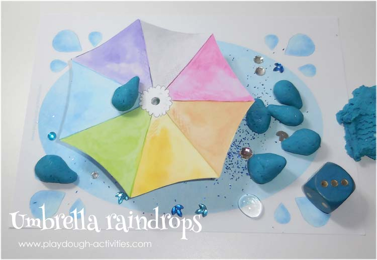 Playdoiugh raindrops