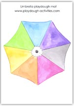 Umbrella playdough mat
