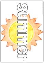 Summer playdough mat - text word formation sheet