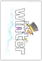 Winter playdough mat - text word formation sheet