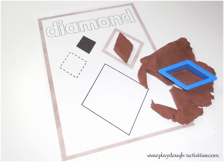 Shape mat printable for playdough activitities