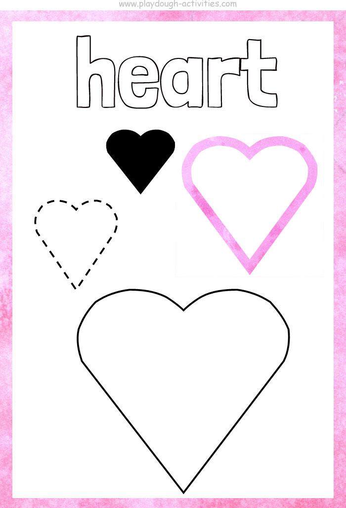 Heart shape playdough mat