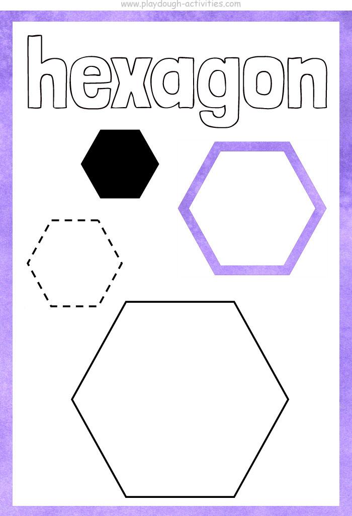 Hexagon shape playdough mat
