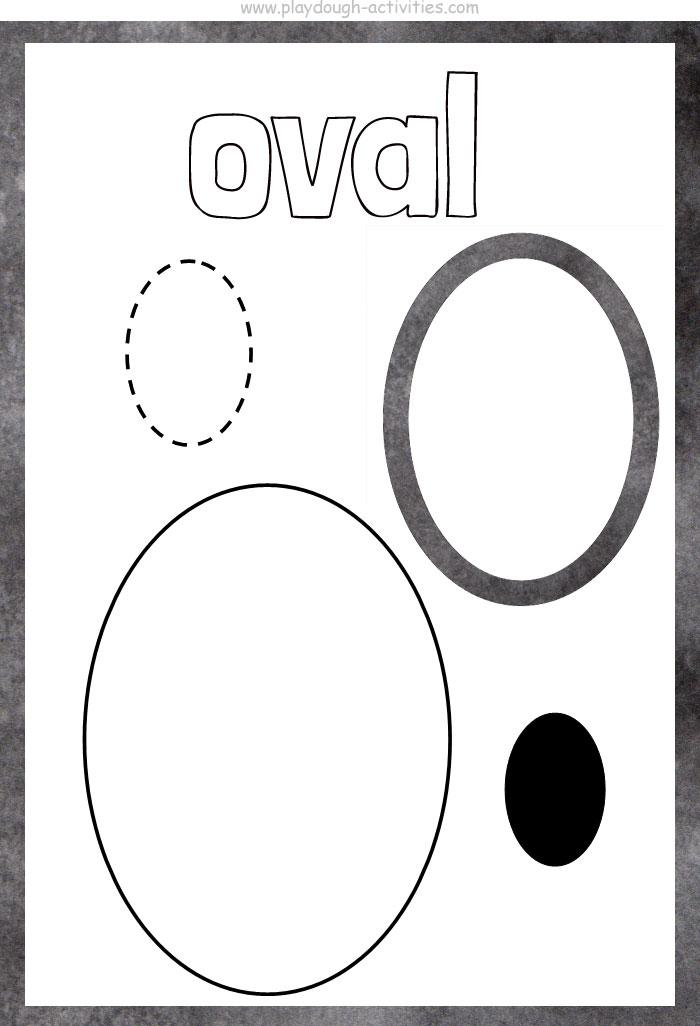 Oval shape playdough mat