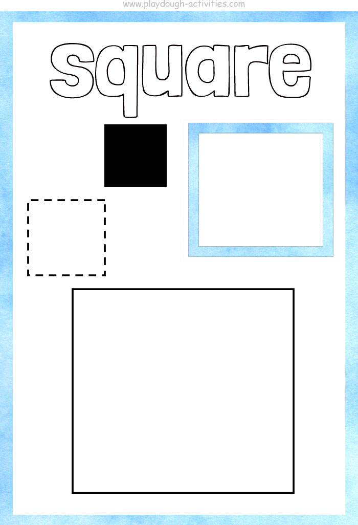 Square shape playdough mat