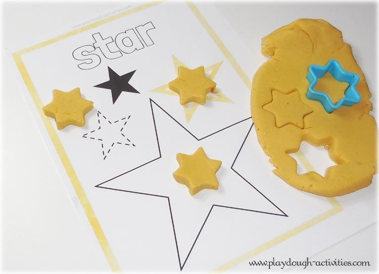 Star playdough shape mat printable activities