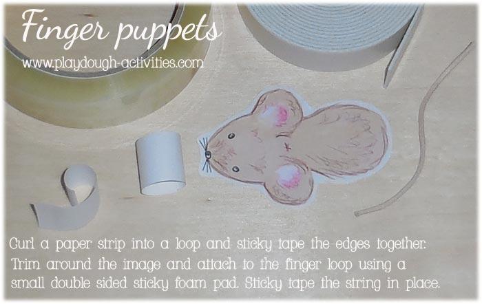 Making paper loop finger puppets