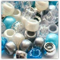 Buy a blue silver and white pony bead mix on amazon.co.uk