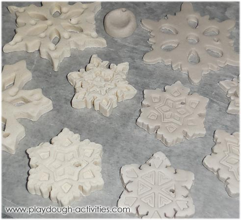 Airdry handmade snowflake shaped decorations
