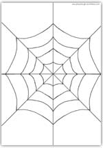 spider web playdough mat
