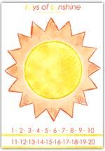 Numberline sunshine rays playdough activity sheet