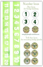 Number lines and dice faces