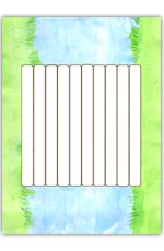 Bridge playdough mat 1 - 10 planks