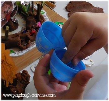 Plastic pop open eggs for preschool hide and find activities