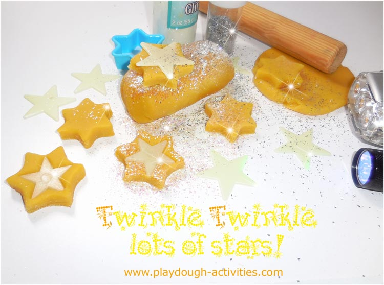 Twinkle twinkle playdough mats