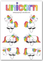 Unicorn playdough prictures