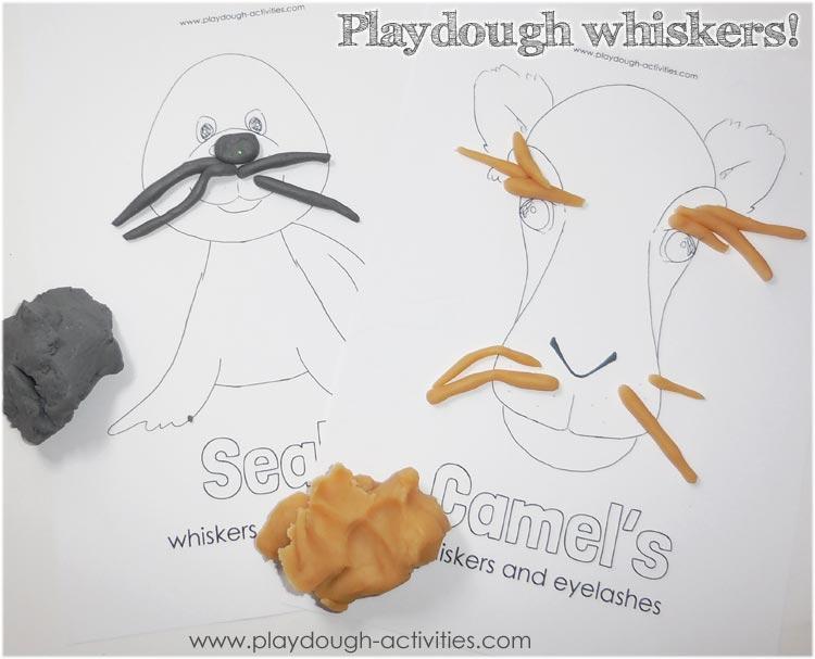 Playdough whisker rolling!