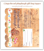 Click to vew the full sized gingerbread playdough gift bag topper