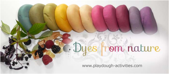 Colouring playdough with natural dyes from fruit vegetables and plants