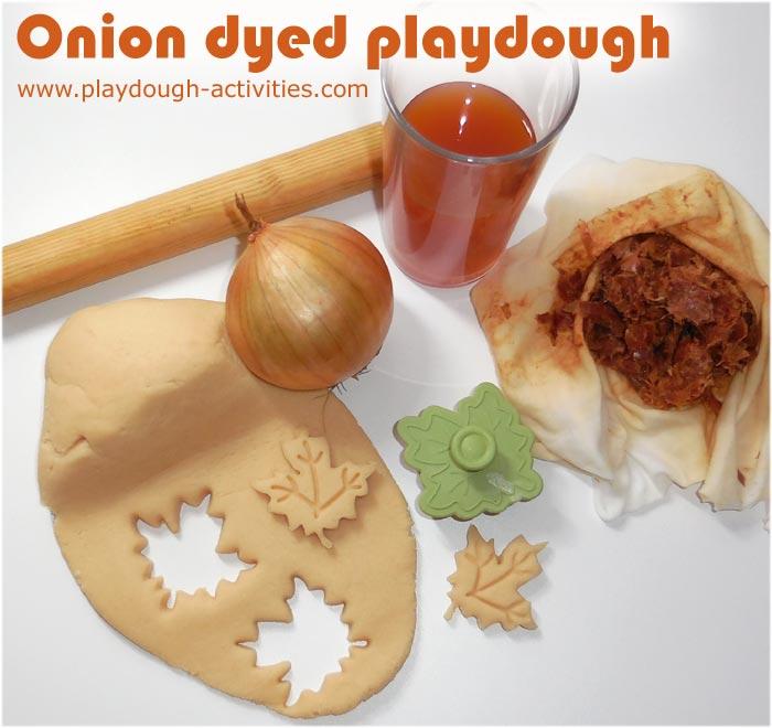 Onion dyed playdough activities