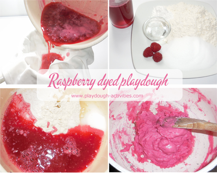 How to make a raspberry dye to colour playdough