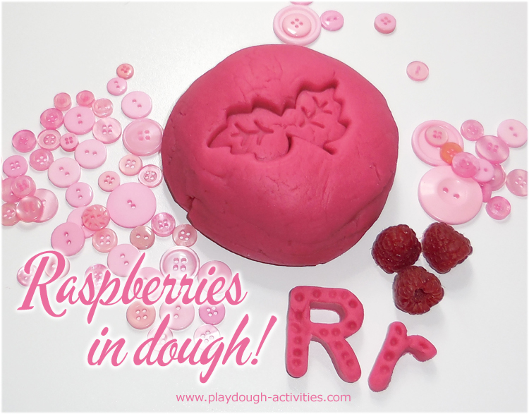 Making raspberry dye to colour stain playdough