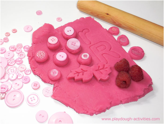 Raspberry pink playdough activities