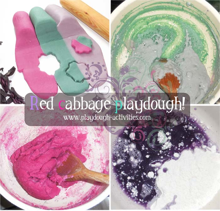 Mixing playdough ingredients to make coloured dough - preschool children ativity
