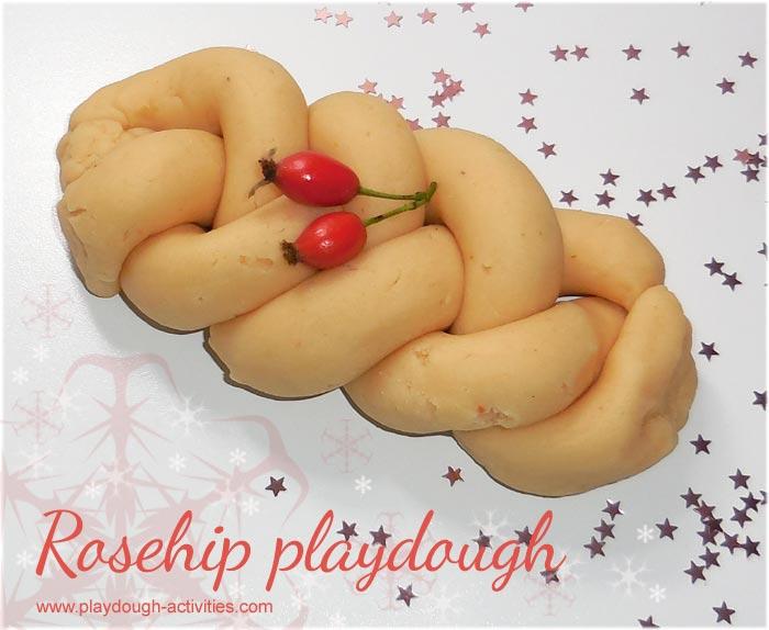 Rosehip dye recipe to colour playdough