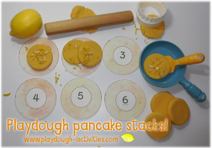 Lemon peel pancake playdough recipe
