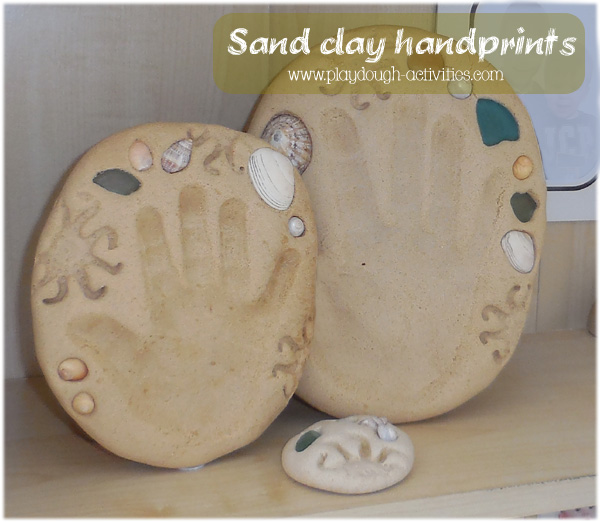sand clay recipe - insturction and printable