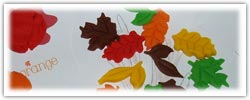Autumn leaf playdough activities