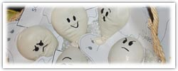 Ghost balloons - feeling faces - stress squashies