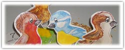 Bird seed playdough