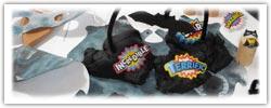 Superhero playdough - black cape cave