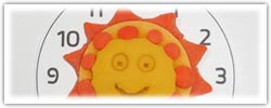 Daylight savings - British summer time sun clocks playdough activity