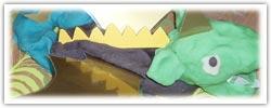 Dragon building playdough activity